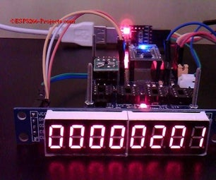 MAX7219 - 8 Digit LED Display Module Driver for ESP8266