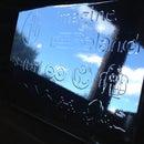 Bas-relief mirror