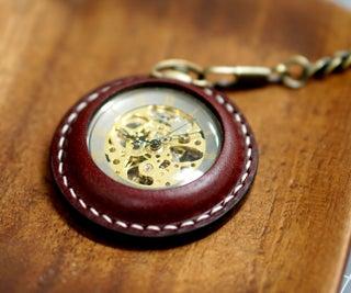 Pocket Watch Leather Case