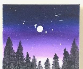 How to Paint a Night Sky Scene