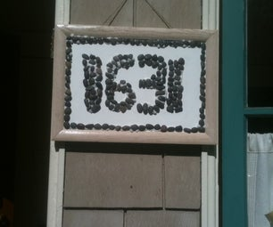 House Numbers Sign - Kids Project