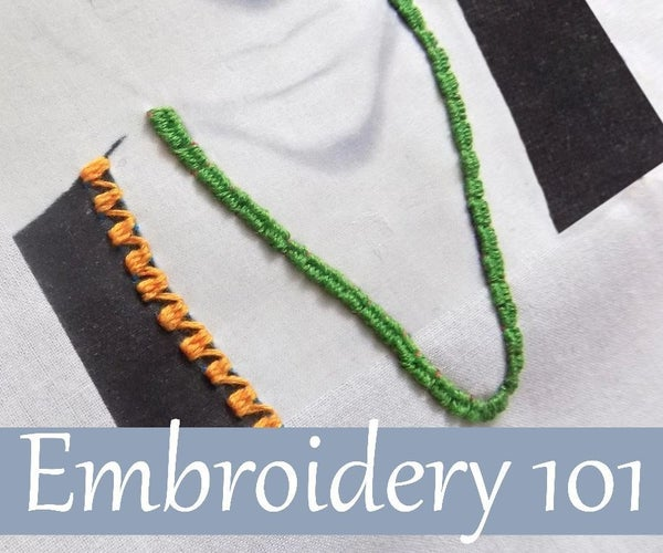 Embroidery 101: Woven Back and Woven Running Stitches