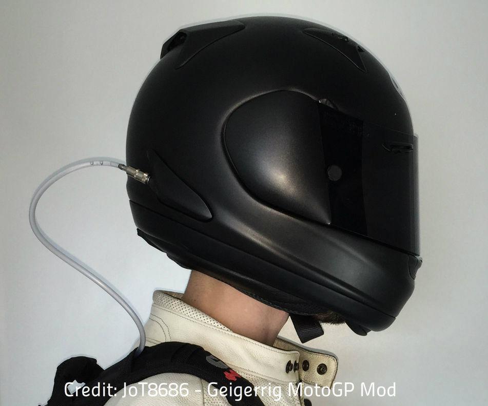 No-drill Motorcycle Helmet MotoGP Hydration Mod