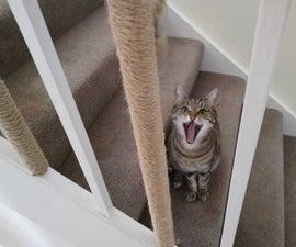 Cat Scratcher Stair Bannister.