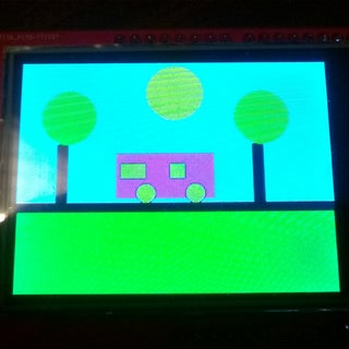 Drawing a Car With Arduino TFT Color Touch Display With Complete Basic Tutorials