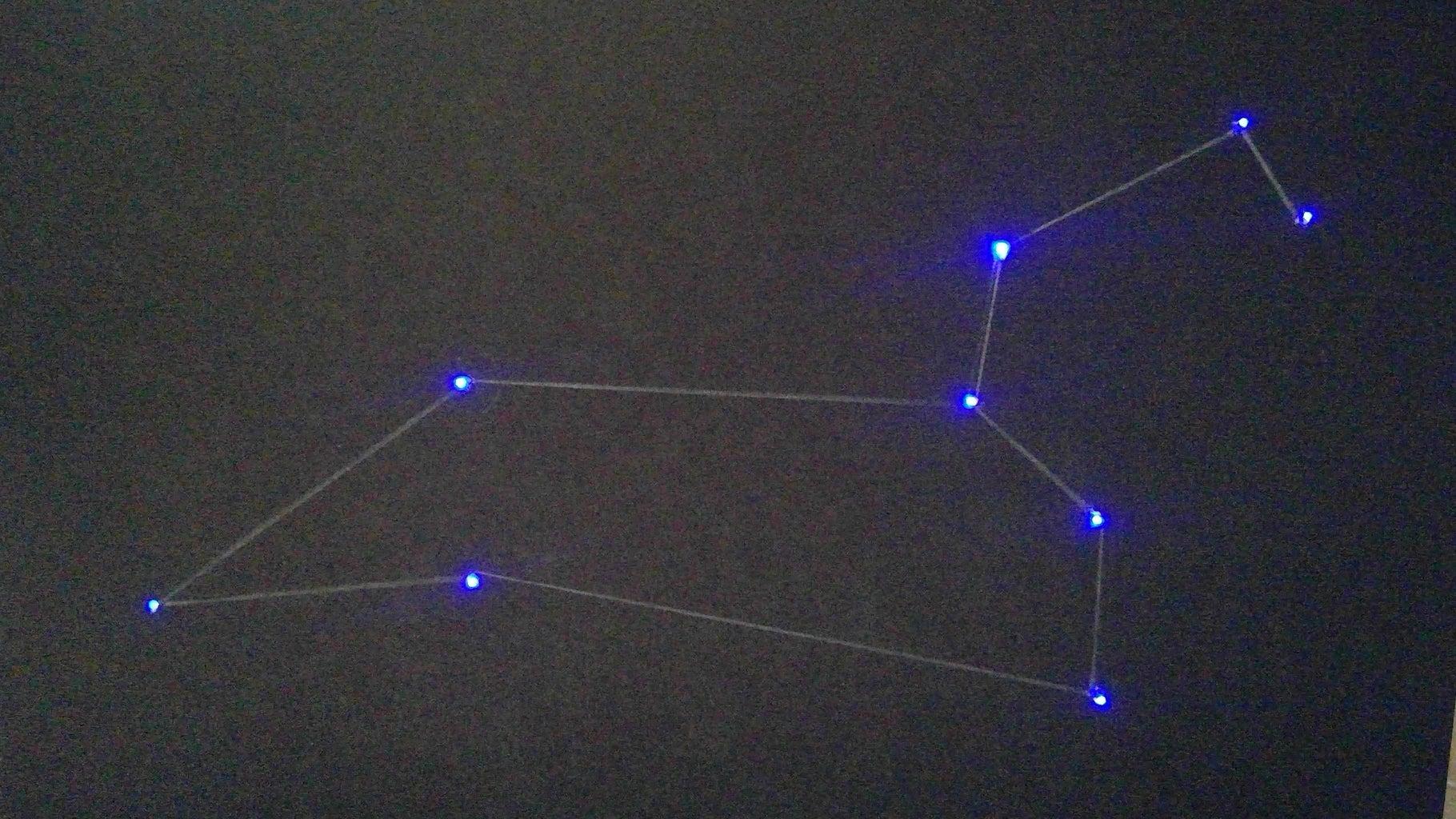 LED and Fiber Optic Star Constellation