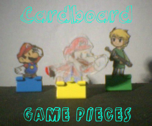 How to make Cardboard Figurines/Game pieces