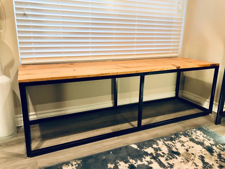 DIY Steel & Wood Bench