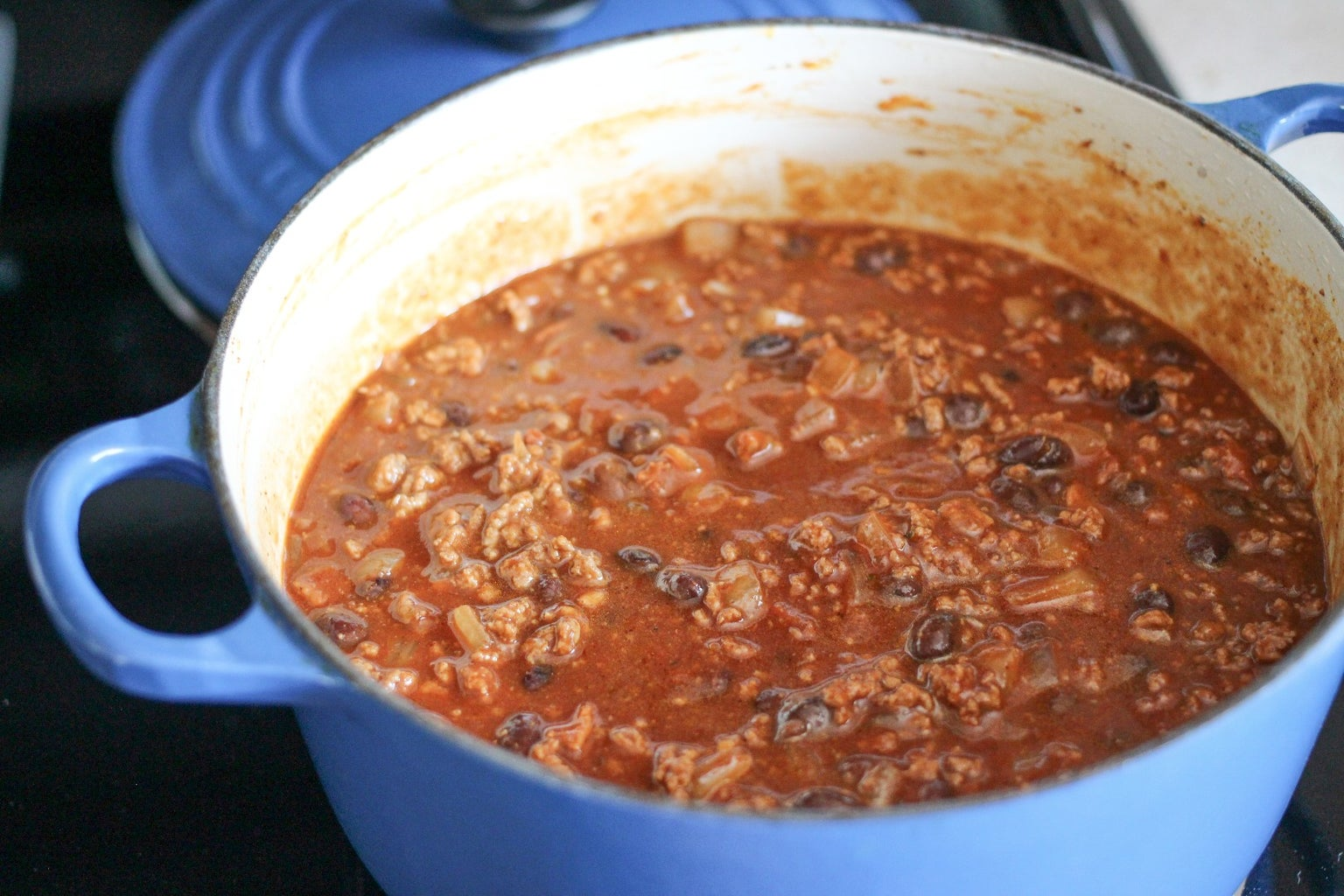 Add the Tomatoes and Beans