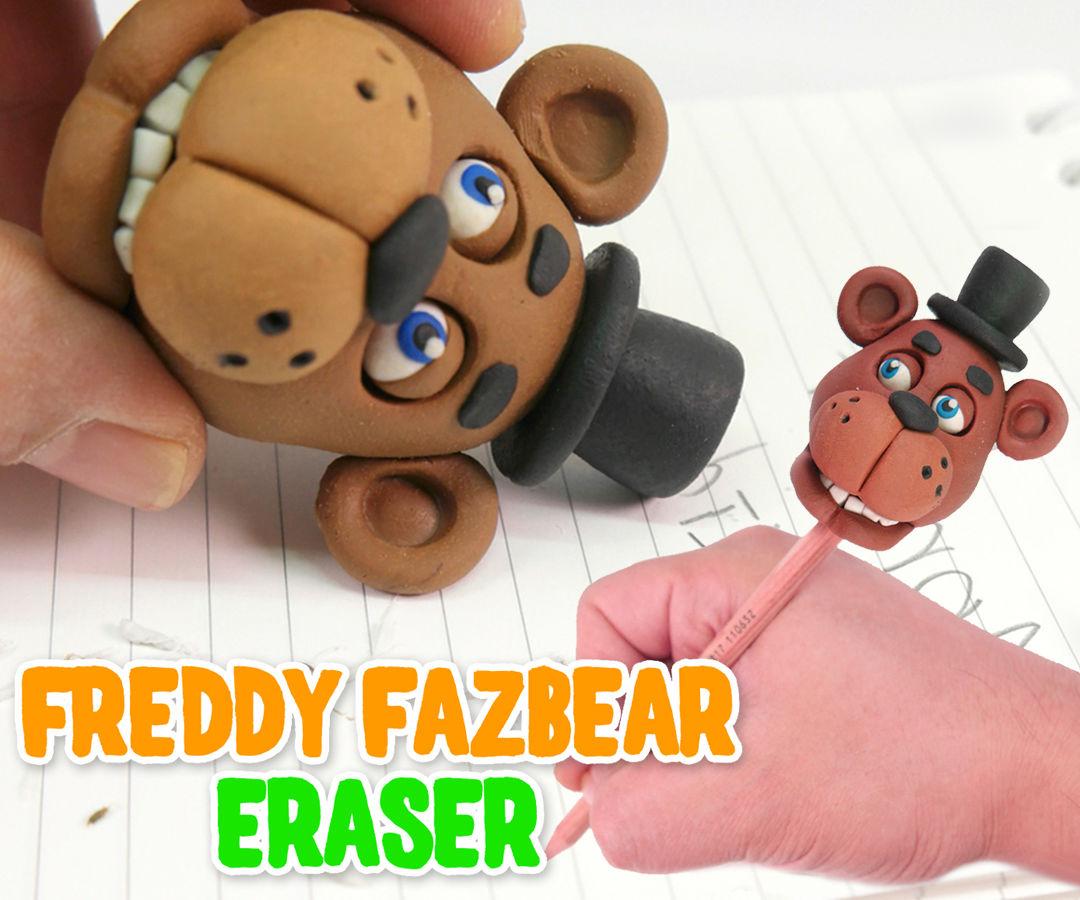 DIY Freddy Fazbear Eraser - Halloween Five Nights at Freddy's Pencil Eraser
