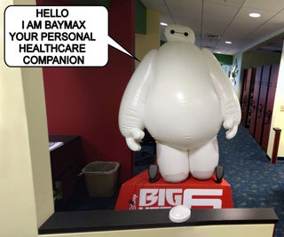 Talking Baymax Display for a Pediatrician's Office
