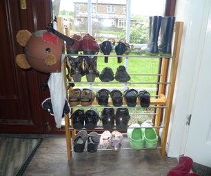Upcycled Shoe Rack