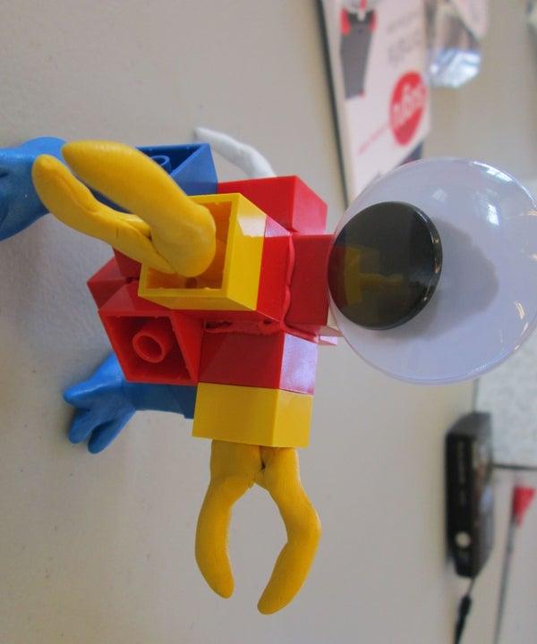 Modular Monster With Sugru and Legos