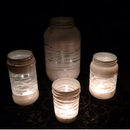 Yarn-wrapped Painted Jars