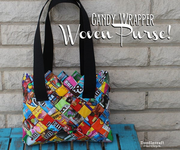 CANDY WRAPPER Woven Purse/Bag!