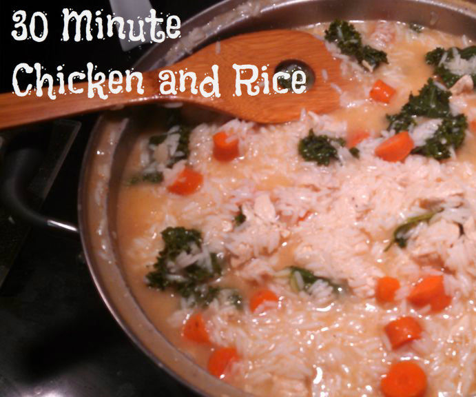 Chicken and Rice Soup in 30 Minutes