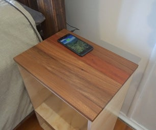 Wireless Charging Bedside Table