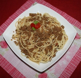 Spaghetti In Minced Meat 7 Steps Instructables