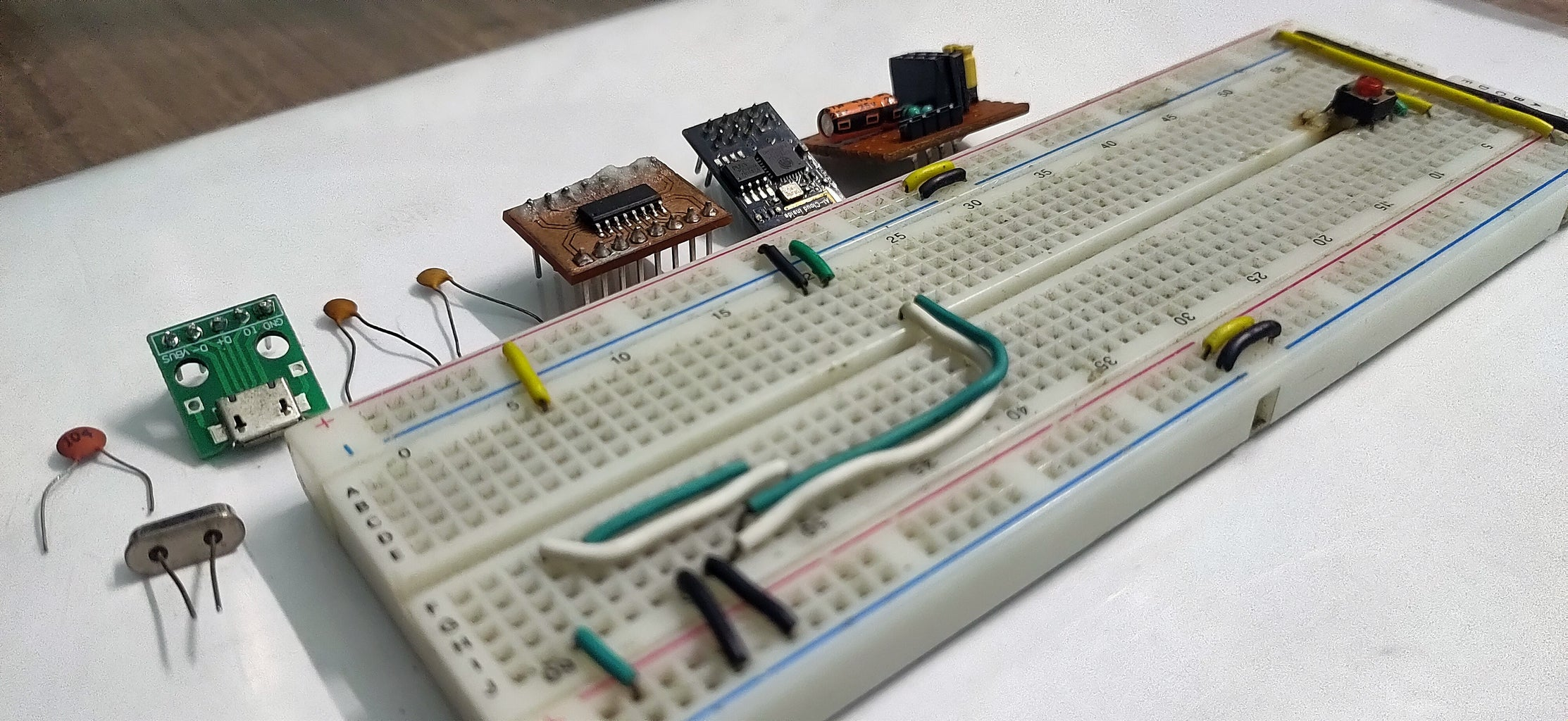 Testing Out the Circuit on Breadboard