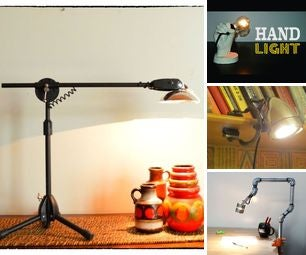 Upcycled Desk Lamps