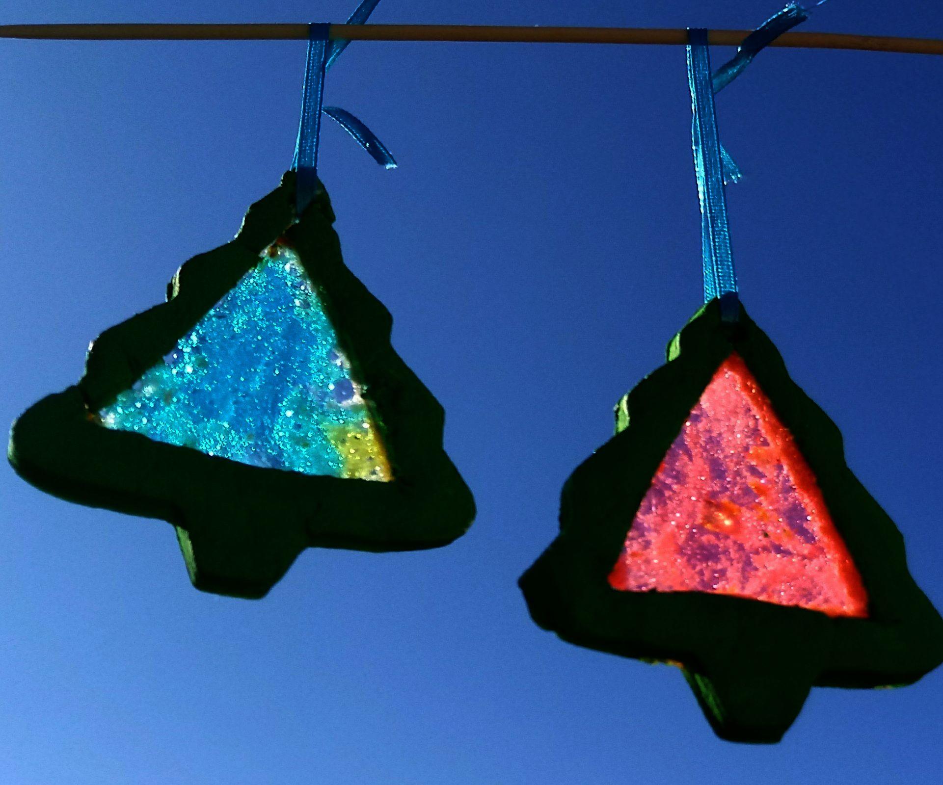 Stained Glass Baking Soda Ornaments