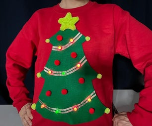 Simple Light-Up Ugly Christmas Sweater