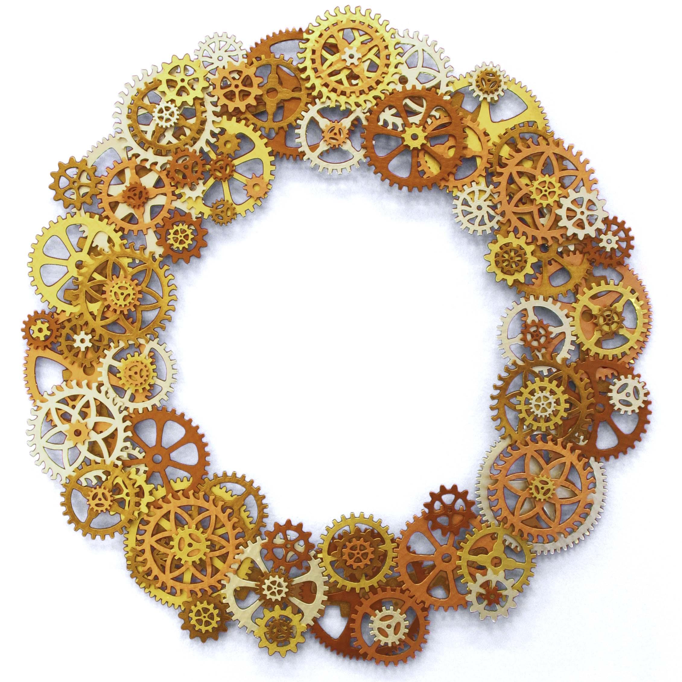 Steampunk Gear Wreath