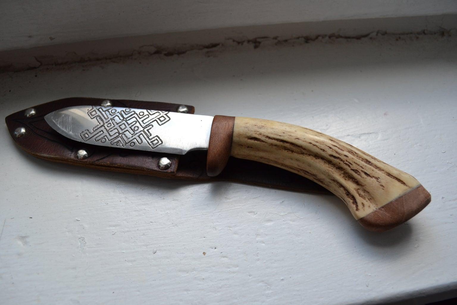 Handmade Knife and Leather Sheath