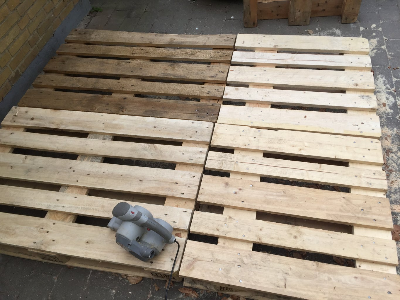 Sand Faces and Edges of Bed Frame Pallets