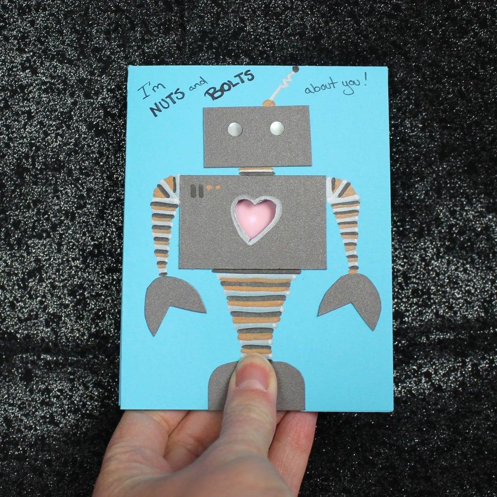 Robot Heartbeat Valentine Card