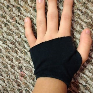 Socks Into Fingerless Gloves