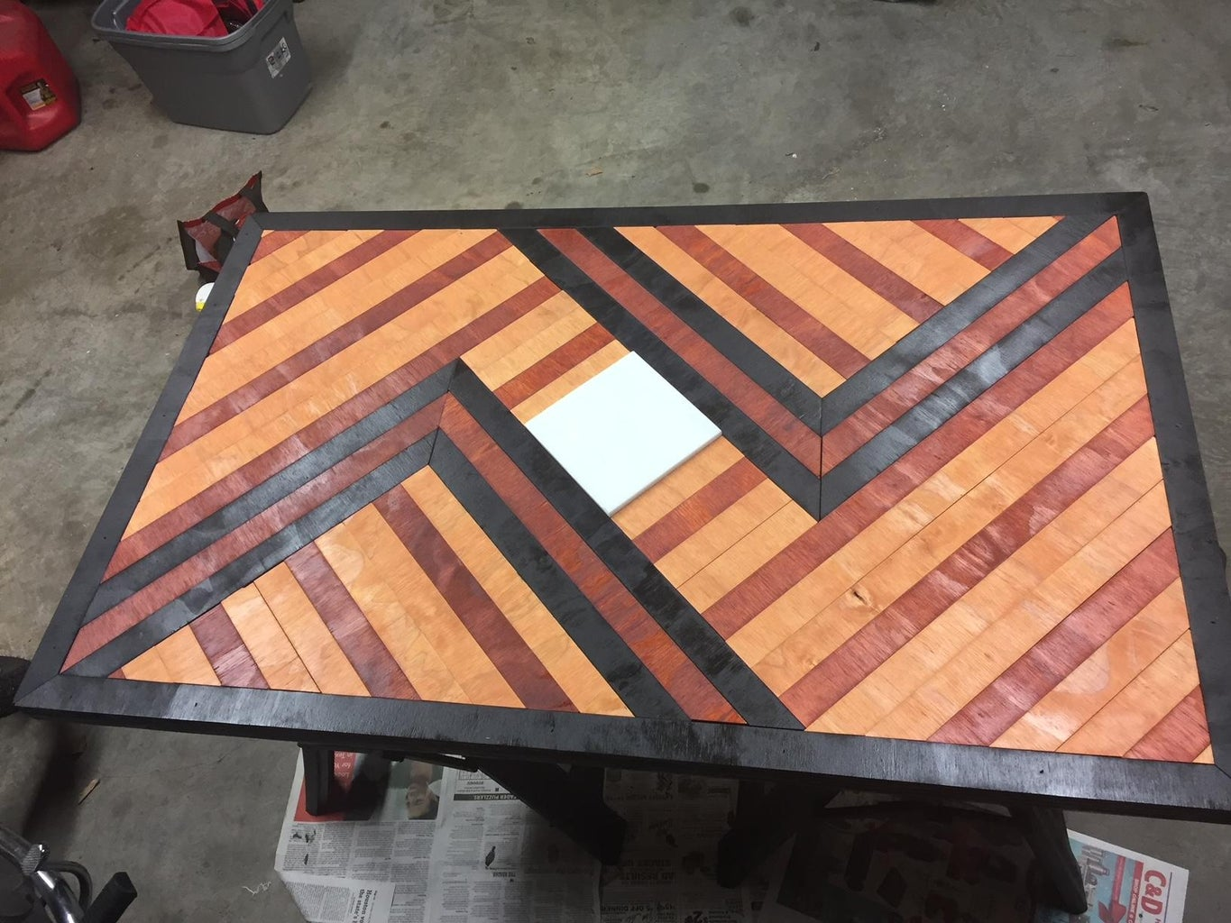 Stain and Nail in Place
