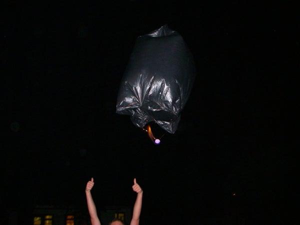 10 Minute Trash/garbage/bin Bag Hot Air Balloons