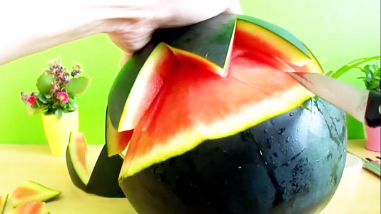 Remove Watermelon From That Zigzag Pattern As Shown in Following Images