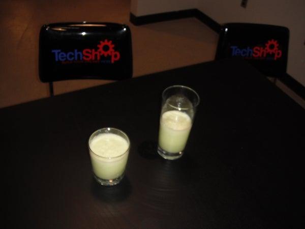 How I Made a Reduced-guilt GREEN SHAMROCK SHAKE!  I Made It at Techshop Detroit!