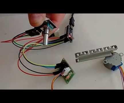 Arduino Nano and Visuino: Control Stepper Motor With Rotary Encoder
