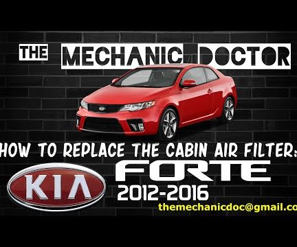 How to Replace the Cabin Air Filter: Kia Forte 2012-2016