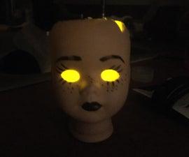Creepy Doll Head Lamp