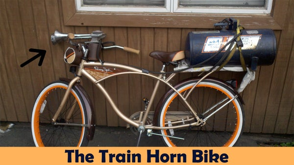 Extremely Loud Train Horn Bicycle