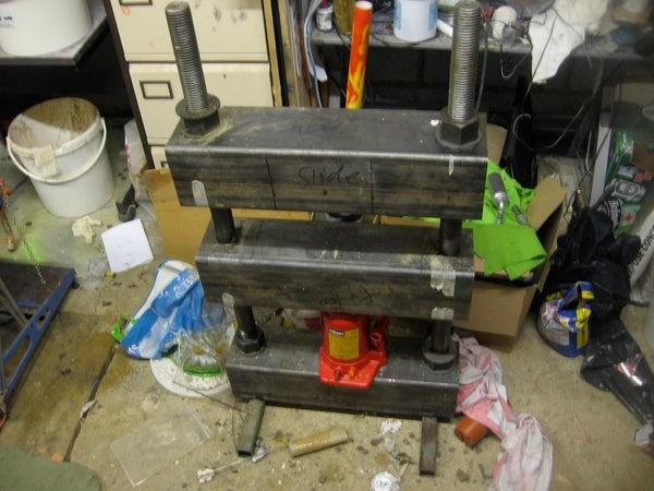 Make a 30tonne Hydraulic Press. Squash Anything!