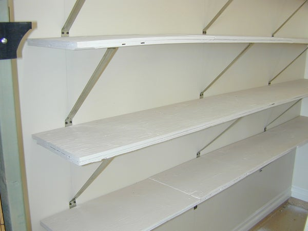 Utility Shelves From Recycled Plywood