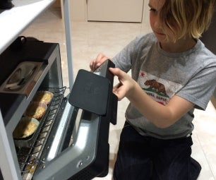 Vegan Toaster Oven Muffins - Peanut Butter Banana Chocolate Chip