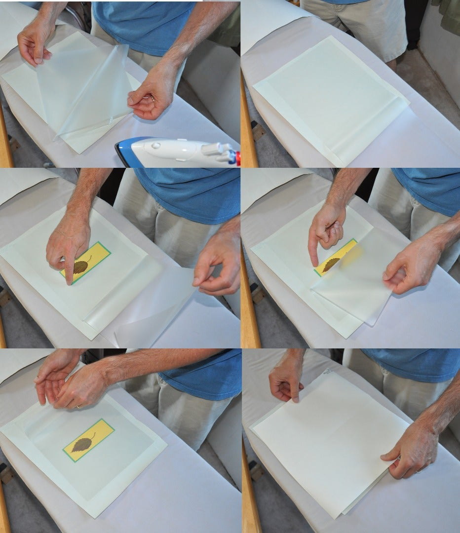 Place the Bookmark Pieces on the Ironing Board