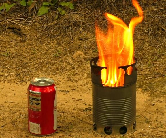 Portable Wood Gasifier Stove Made Just from Cans
