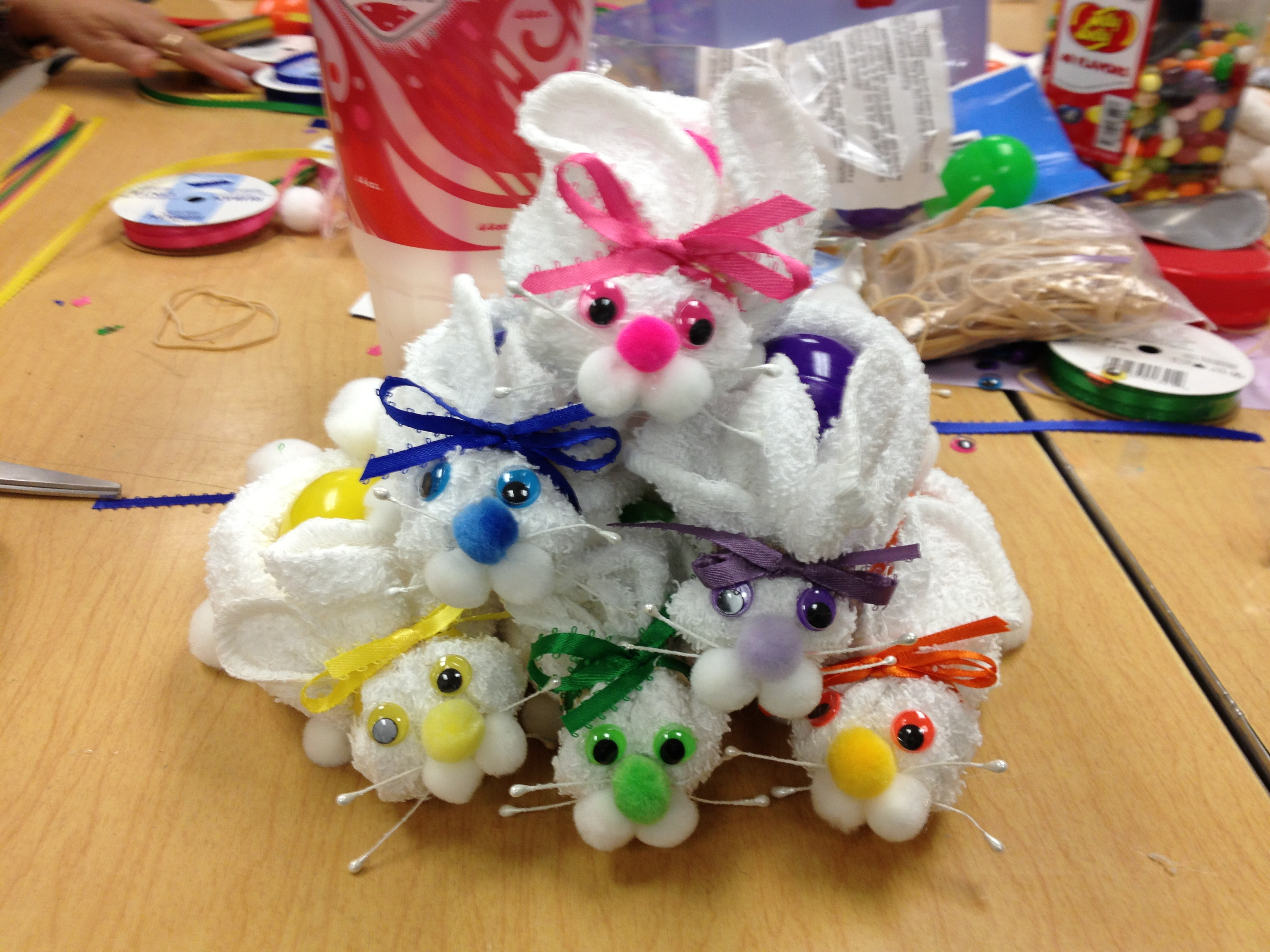 Washcloth Easter Bunnies 9 Steps Instructables