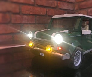Lego Mini Cooper App Controlled Lights