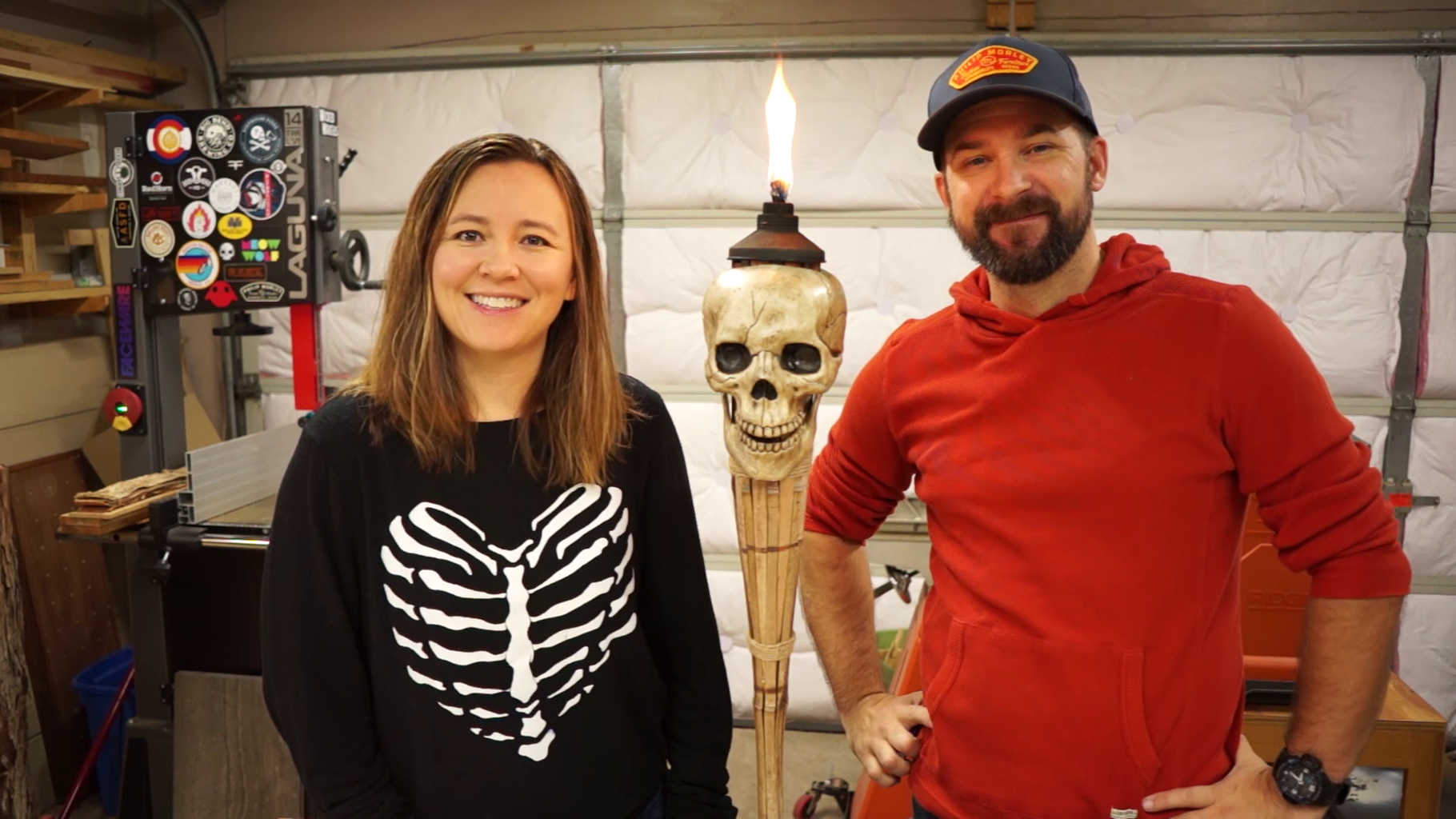 DIY Skull Torches