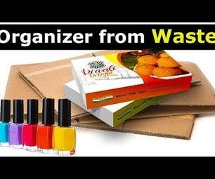 How to Make Recycled DIY Cardboard Desk Organizer?