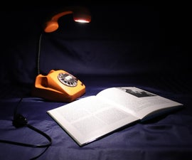 Upcycled RetroPhone Lamp