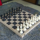 Cast Concrete Chessboard
